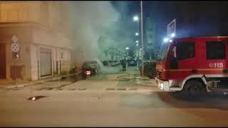 Notte di fuoco, quattro auto in fiamme nei pressi di via Gravina