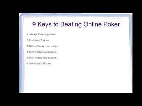 The 9 Keys to Beating Online Poker