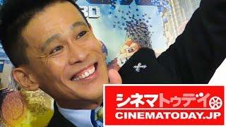 タレントの柳沢慎吾が都内で行われた映画『ピクセル』の日本語吹き替え...