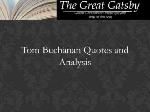 Quotes about tom buchanan