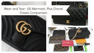 Wear and Tear:  Gucci Marmont plus Chanel Classic Comparison