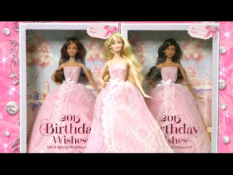 2015 Birthday Wishes Barbie From Mattel TTPM Toy Reviews