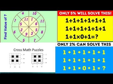 21 MATH PUZZLES WITH ANSWERS TO TEST YOUR LOGIC