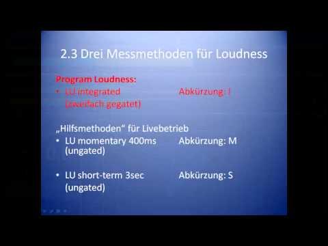 DE: R128 Loudness Normalisierung: Vortrag von Friedemann Tischmeyer