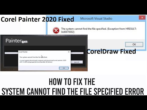 The System Cannot find the File Specified Error l Missing .msi Corel Painter l CorelDraw 2020 Fixed