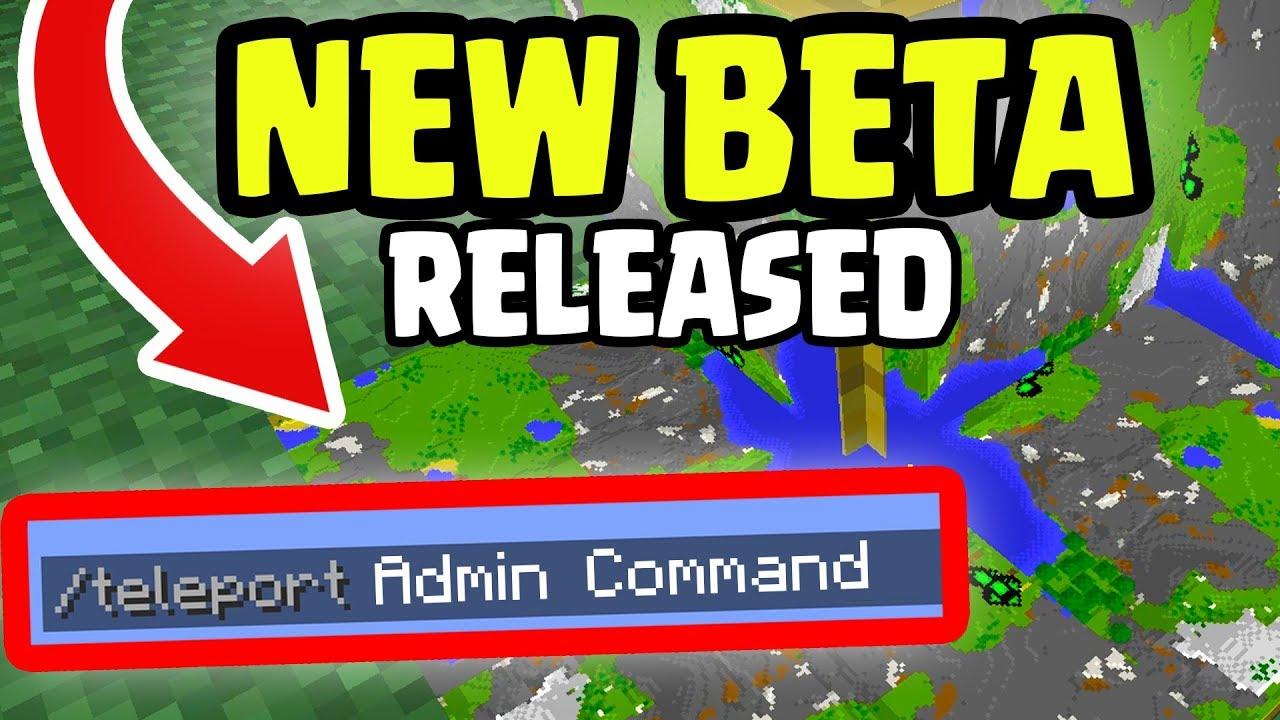 Using ADMIN COMMANDS in NEW Minecraft Update BETA RELEASED ...