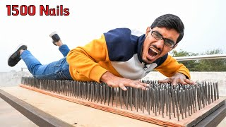 Making & Sleeping on Nail Bed | 1500 कीलों का का बिस्तर | World's Most Painful Bed😨