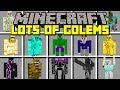 Minecraft LOTS OF GOLEMS MOD! | BUILD GOLEMS AND FIGHT ZOMBIE APOCALYPSE! | Modded Mini-Game