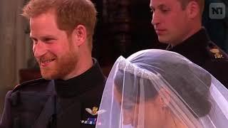 Невеста Гарри восхитила  свадебным платьем