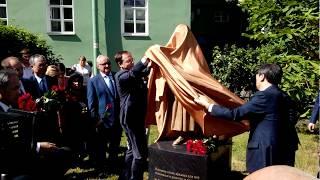 Открытие памятника южнокорейской писательнице Пак Кённи в Санкт Петербурге 20.06.2018
