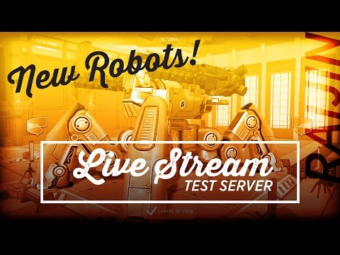 Walking War Robots [WWR] – LIVE STREAM – TEST SERVER – March 12, 2016 | ADRIANNNNNN