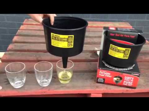 mr funnel portable fuel filter demo, now available @  www westernfilters net au - youtube