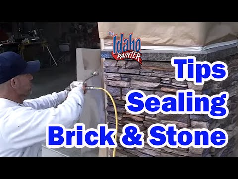 Applying H C Sealer To Decorative Stone How To Paint A House Youtube
