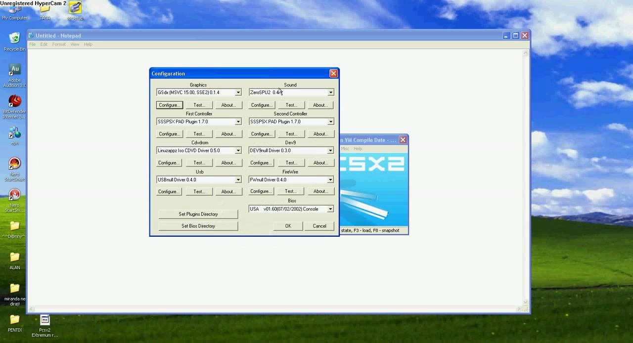 Configured Pcsx2 for DBZ Budokai Tenkaichi 3 XP by Denciga