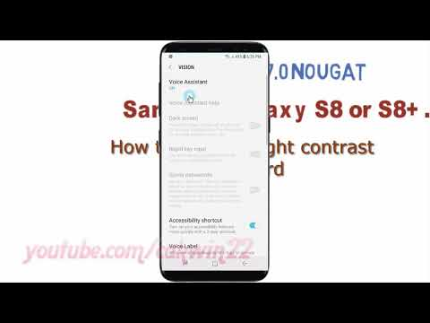 Android Nougat : How to Enable Hight contrast Keyboard in Samsung Galaxy S8 or S8+