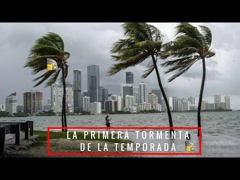 La primera tormenta de la temporada en el mar Caribe tocará tierra el lunes.