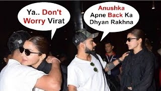 Virat Kohli Showing Care Towards Injured Anushka Sharma At Airport