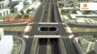 Wizualizacja przejazdu drogą S74 przez Kielce
