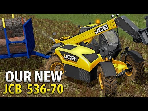 OUR NEW JCB 536-70 HAULING WOOD | PGR BRUZDA 17