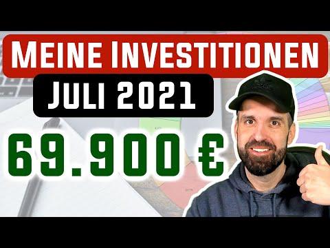 Vollgas mit ETFs 📈 Investitionen im Juli 2021 📊