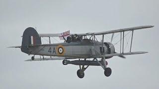 Fairey Swordfish Mk1Royal NAVY flying Display at RNAS Yeovilton Air Day 2015
