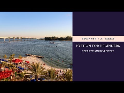 Artificial Intelligence: Python Tutorial for Absolute Beginners - Top 3 Editors thumbnail