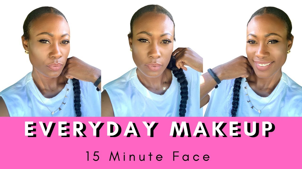 Everyday Makeup Tutorial for Black Women| 15 Minute Face