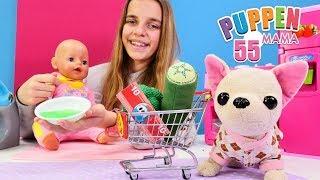 Puppen Mama. Lolli geht Einkaufen. Spielzeugvideo für Kinder
