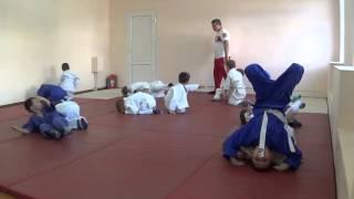 1.11.15 Открытое занятие по дзюдо: разминка в парах - 2. 5 лет. Centre Judo Kids. Feodosiya