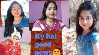 Ky hai goodnews😱kyu hu itni khuss😁😄morning to night routine vlog 🙏