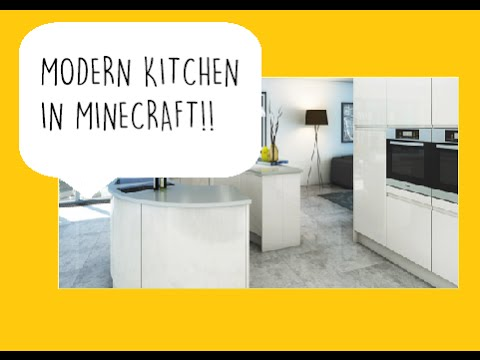 how to build a modern kitchenminecraft tutorial