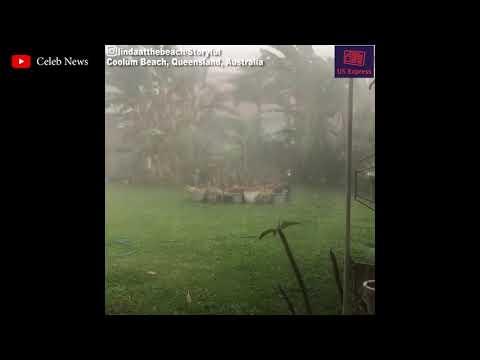 Hail and heavy rain in Queensland, Australia !!