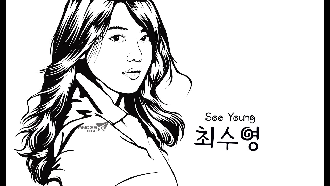 Line Drawing Of Artist : Line art photo with adobe illustrator full youtube