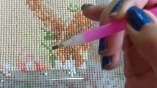 Алмазная живопись/Как правильно выкладывать алмазную мозаику/Мастер-класс