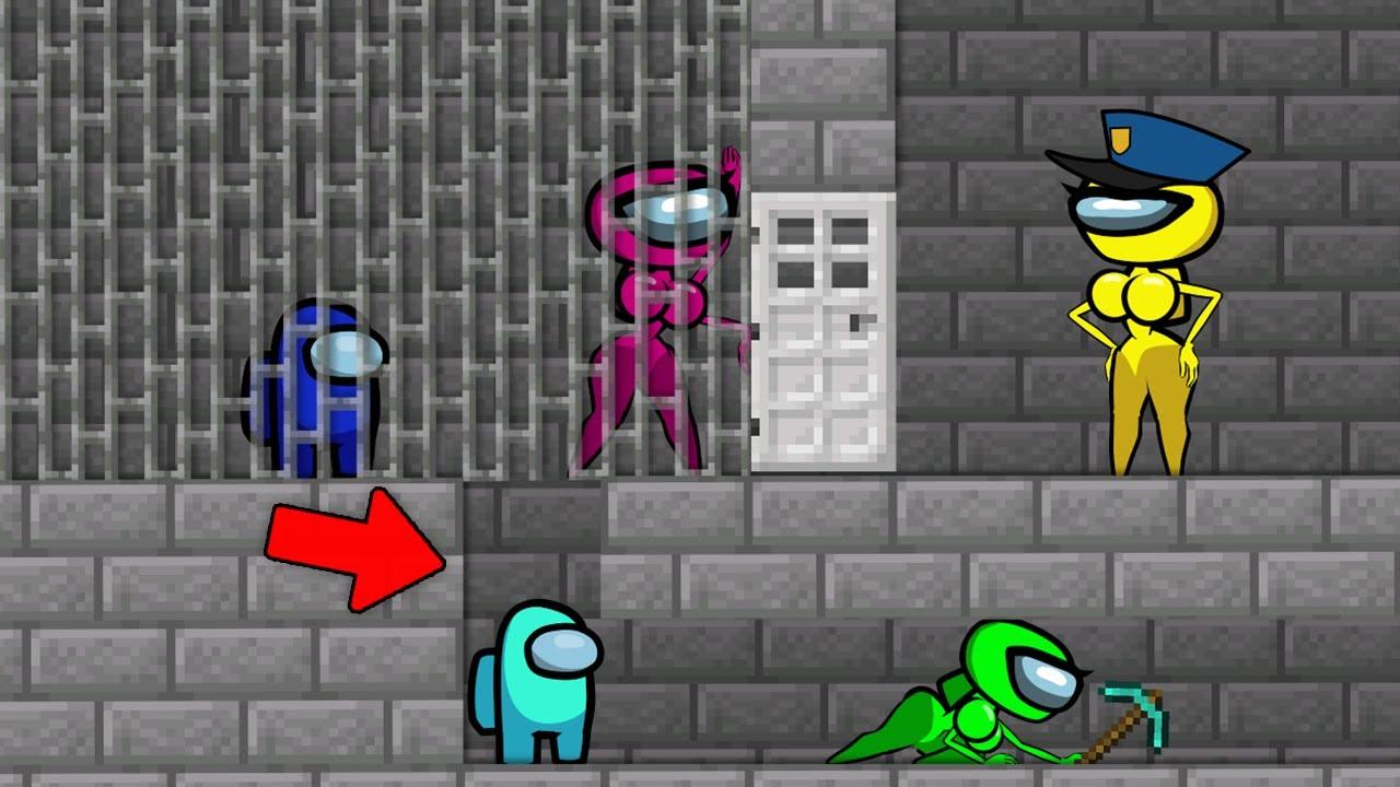 Among Us vs Prison Escape Minecraft - Cartoon Animation