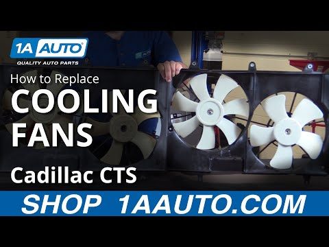 How to Replace Radiator Dual Fan Assembly 03-07 Cadillac CTS