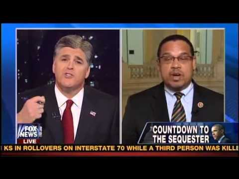 Sean Hannity Finally Got His Own Medicine # Congressman Keith Ellison