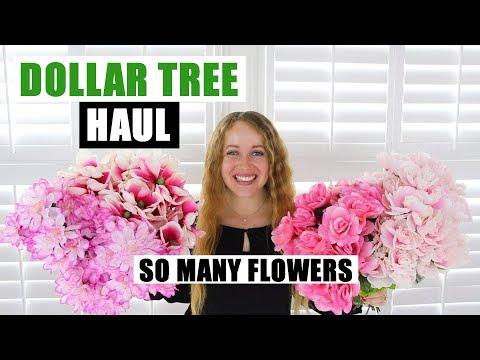 HUGE DOLLAR TREE HAUL Tons Of Spring Floral & DIY Supplies