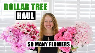 HUGE DOLLAR TREE HAUL Tons Of Spring Floral  DIY Supplies