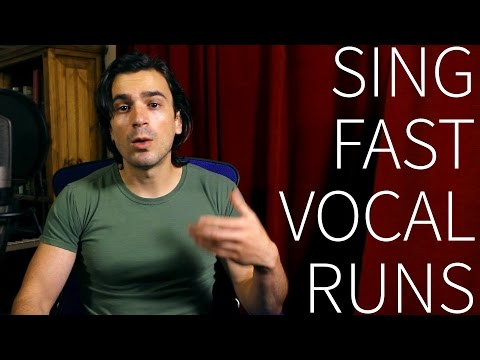 How to sing fast vocal runs!
