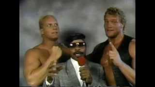 WW 9/16/89- Skyscrapers vs Len Wagner & Rusty Riddle- Clips Steiners/Freebirds from Clash