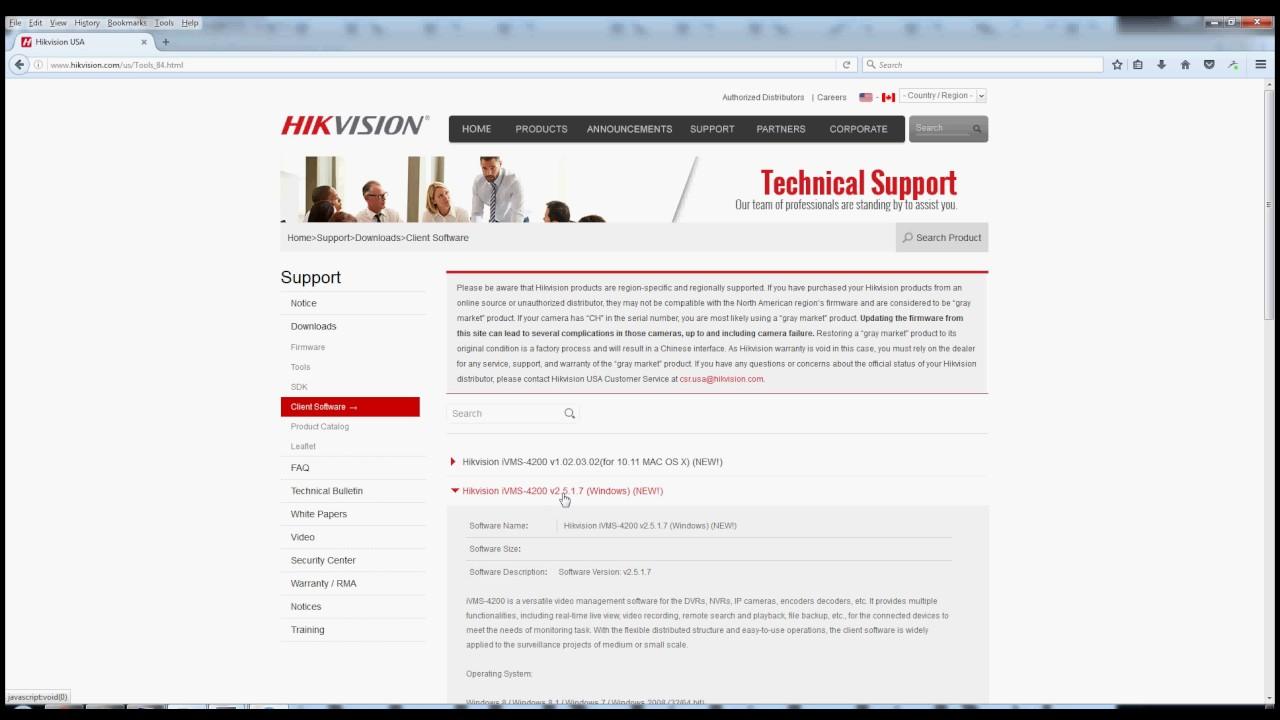 Hikvision iVMS 4200 download