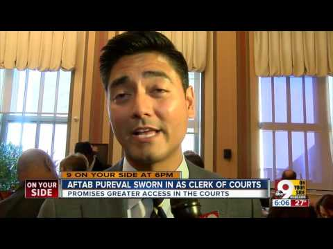 Aftab Pureval Sworn In As Hamilton County Clerk Of Courts