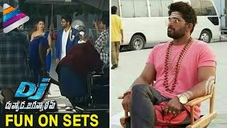 DJ Duvvada Jagannadham Movie Making | Fun on Sets | Allu Arjun | Pooja Hegde | Telugu Filmnagar