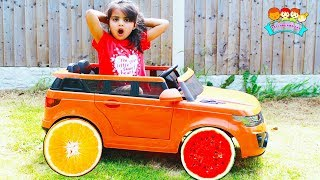 Ashu and Story about Magic Power Wheels Car | Katy Cutie Show