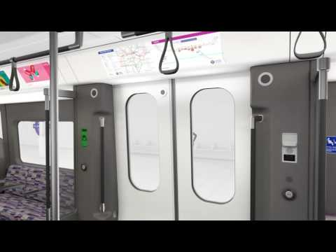 New Elizabeth line train CGI