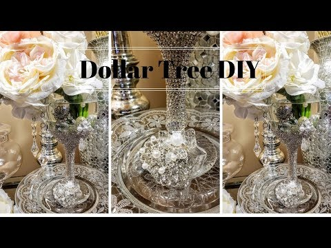 NEW! 2019 Dollar Tree Luxurious Bling Centerpiece|DIY Centerpiece