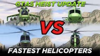 Valkyrie vs Savage vs Swift vs Buzzard (GTA 5 Online Heists Update Gameplay)