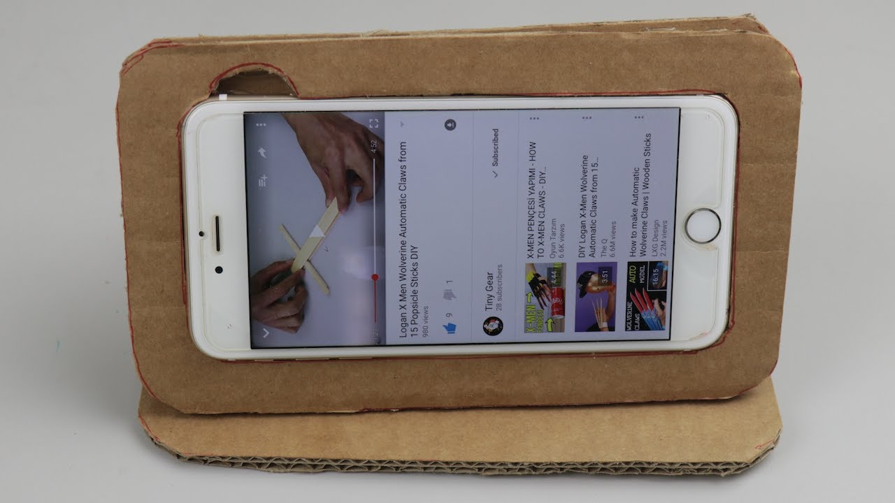 the best attitude 38baf 3ee6a DIY How To Make iPhone Case From Cardboard At Home