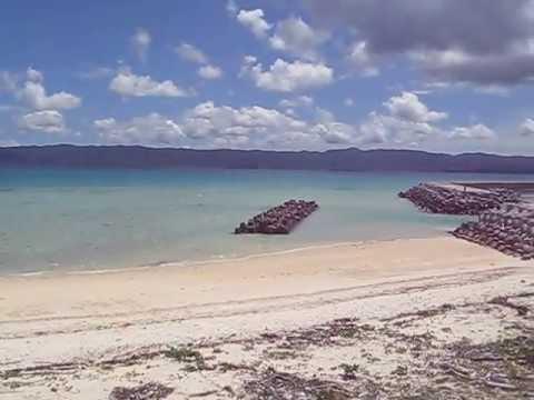 沖縄 鳩間島のビーチ